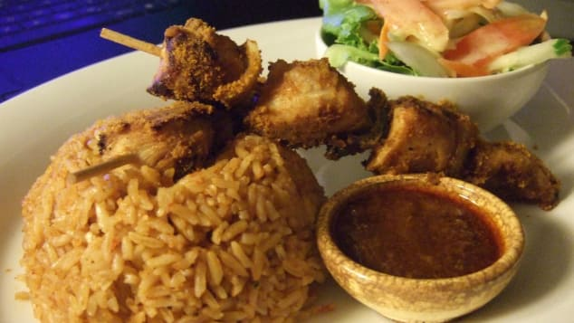 Jollof rice and egusi soup, Nigeria